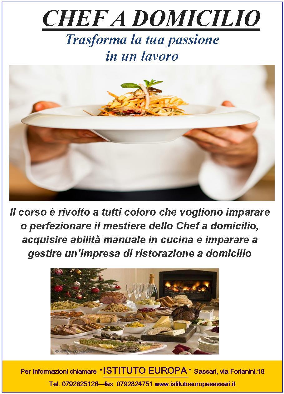 chef a domicilio | istituto europa - Cucinare A Domicilio